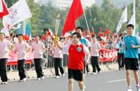 董事长王忠本先生十一届全运会火距传递
