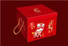 """益利思""""过年了""""糕点礼盒---舞狮迎春"""