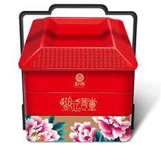 【新品】益利思鸿运满堂三层手提铁盒